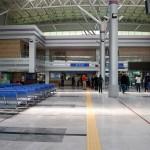 Seit der Wiedervereinigungs-Express nicht mehr zwischen Dorasan und Pjöngjang verkehrt, ist die Bahnhofshalle verwaist.